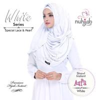 Jilbab Pashmina White Series Pashmina Instan Putih Nuhijab