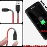 KABEL DATA VIVAN FM100 2.4A 1M SPRING CABLE MICRO USB FOR ANDROID