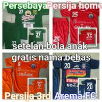 Jersey Kids Setelan Anak Persebaya Surabaya Persija Jakarta Arema FC