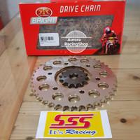 Gear Set SSS Vixion Old & Rantai TK 428 S Gold