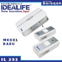 Bell Rumah - Bel Pintu Wireless - Idealife IL-292 Baterai 2 Remot