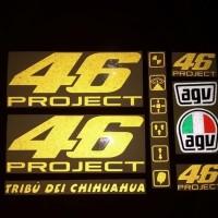 Stiker / Sticker Cutting Helm Rossi 46 PROJECT Set