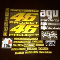 Stiker / Sticker Cutting Visor Helm Rossi 46 PROJECT Complete Set