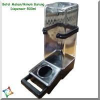 Botol Makan Minum Burung CC 500ml Tabung Dispenser Tempat Pakan Jumbo