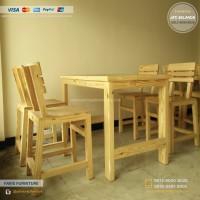 Meja Cafe, Bangku Cafe, Coffee Table, Jati Belanda