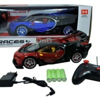 Mainan Anak - Remote Control Imitation Racing Races Mobil Bugatti Car