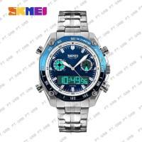 MCJN2 Jam Tangan Pria Digital Analog SKMEI 1204 Blue Water Resistant