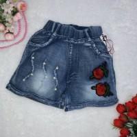 Celana pendek jeans hotpant rose import 5-8th