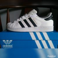 Sepatu Pria ADIDAS SUPERSTAR FOUNDATION PACK WHITE Original Guarantee