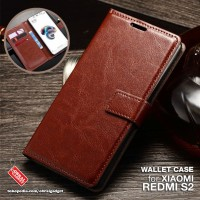 Wallet Flip Case Xiaomi Redmi S2 Leather Flipcase Soft Cover Casing