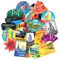 55 pcs Stiker Sticker Koper Laptop Rimowa Travel Retro Hotel