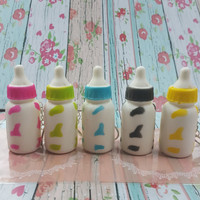 Squishy replika mini milk bottle