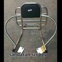 Sandaran behel breket belakang motor BEAT Scoopy beat fi