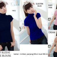 SHORT SLEEVE TURTLE BLOUSE