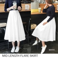 MID LENGTH FLARE SKIRT