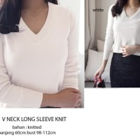 V NECK LONG SLEEVE KNIT