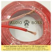 Kabel Speaker Speker Audio Antel 2 x 120 / 0.12 mm per meter per m