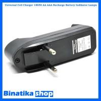 Universal Cell Charger 18650 AA - AAA Recharge Battery Indikator Lampu