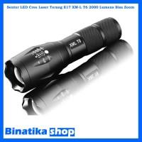 Senter LED Cree Laser Terang E17 XM-L T6 2000 Lumens Bisa Zoom