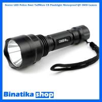 Senter LED Police Swat TaffWare C8 Flashlight Waterproof Q5 3800 Lumen
