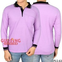 YM fashion terbaru Kaos Polo Polos Pria Panjang PLS 63