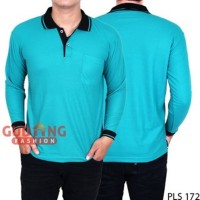 YM fashion terbaru Kaos Kerah Lengan Panjang Pria PLS 172