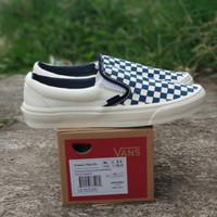 Vans slip-on checkerboard OFF WHITE BLUE