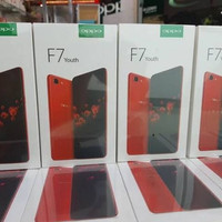 OPPO F7 YOUTH GARANSI REAMI OPPO INDONESIA 1 TAHUN READY BLACK & RED