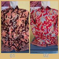 Kemeja Batik lengan panjang(semi sutra)