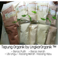 Tepung organik mpasi beras putih merah ubi ungu kacang hijau merah