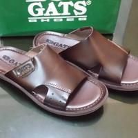 Sandal GATS tipe HG-281 brown // Sandal Kulit Original Murah