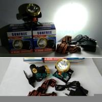Sale Senter Kepala Mini Rechargeable Sunfree 22w Super LED FHL T22W