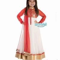 Baju india anak senshukei merah putih