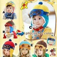 topi anak bayi - topi pilot