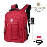 Ransel laptop usb port bruno cavalli BC8411-3
