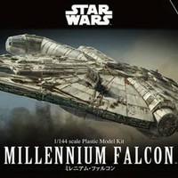 Star Wars Pesawat Han Solo Millenium Falcon Model Kit Bandai