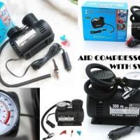 Pompa Ban Mobil Motor Air Compressor Portabel Top Heavy Duty Listrik