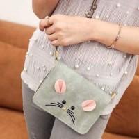02860Br Cartoon Mouse Shoulder Bag Gray