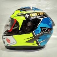 KYT Helm Vendetta 2 Aleix Espargaro Logo K Racing Blue Limited Editi