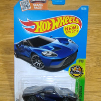 Hot Wheels THS Ford GT 2017 Blue Super Treasure Hunts Varian Bubble