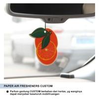 CUSTOM PRINT PARFUM / Pengharum Mobil Gambar Bebas / Gambar sendiri
