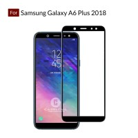 Full Cover Tempered Glass Warna Samsung Galaxy A6 Plus 2018 ( A6+ )