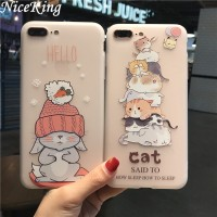 sFor iPhone 6 Case iPhone 7 8 Case Silicone Niceking Cute Cartoon Matt