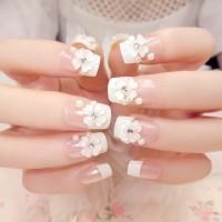 NA046 - Kuku Palsu 3D/ Nail Art /Fake Nails Wedding For Bride Murah