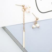 anting asimetris mutiara fashion korea dangling pearl earrings jan133