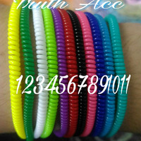 pelindung kabel saver satu warna kabel solid spiral cord cable saver