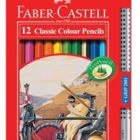 Faber Castell Classic Colour Pencils/Pensil Warna 12 Panjang