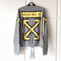 Off White FW18 Grey Arrows Crewneck Sweater 100% Original