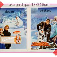 Sampul buku tulis mata pelajaran sekolah anak berwarna karakter frozen
