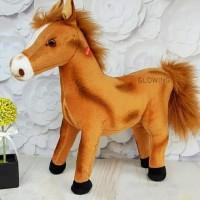 Boneka Kuda Horse Chocolate (dipencet ada bunyi suara Kuda)